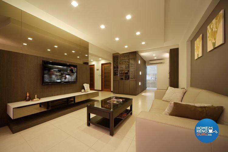 Contemporary, Resort Design - Living Room - HDB 5 Room - Design by Samlo Design Group Pte Ltd