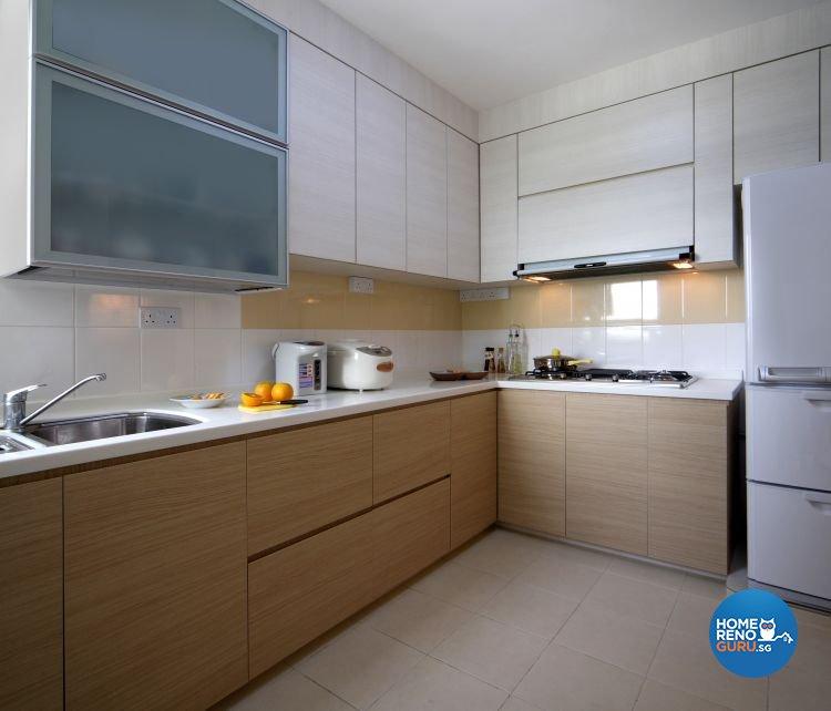 Contemporary, Resort Design - Kitchen - HDB 5 Room - Design by Samlo Design Group Pte Ltd