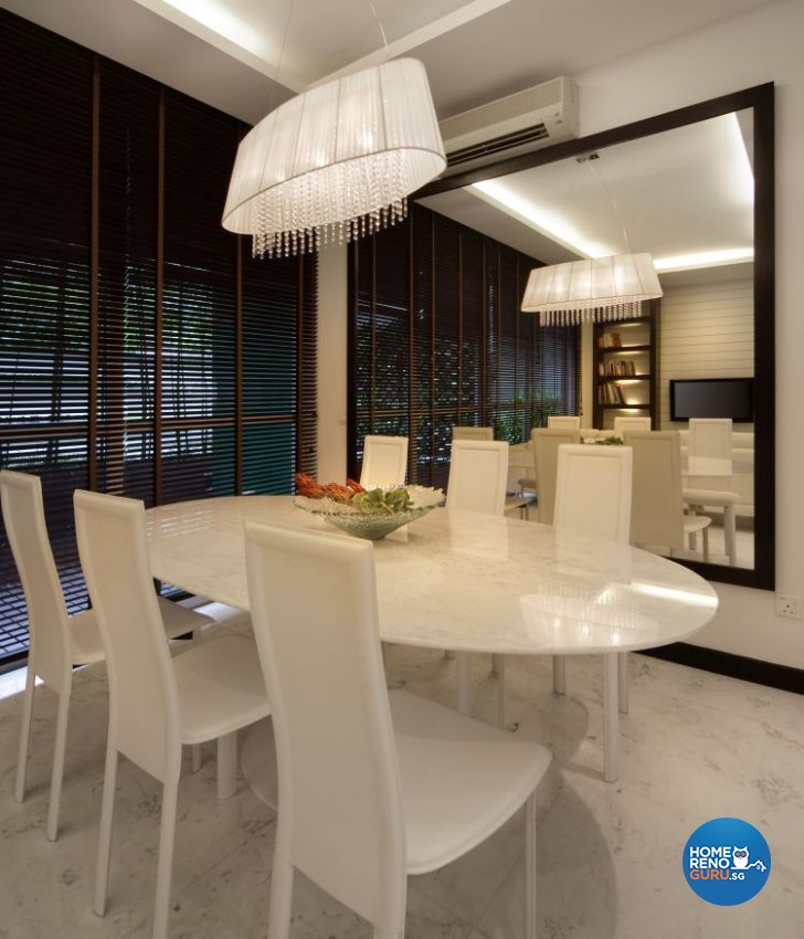 Contemporary, Country, Modern Design - Dining Room - Landed House - Design by Samlo Design Group Pte Ltd