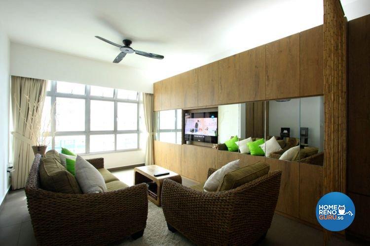 Contemporary, Minimalist, Scandinavian Design - Living Room - HDB 4 Room - Design by San Trading & Renovation Contractor