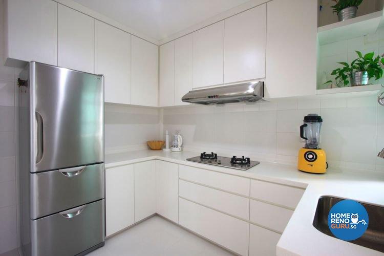 Contemporary, Minimalist, Scandinavian Design - Kitchen - HDB 4 Room - Design by San Trading & Renovation Contractor