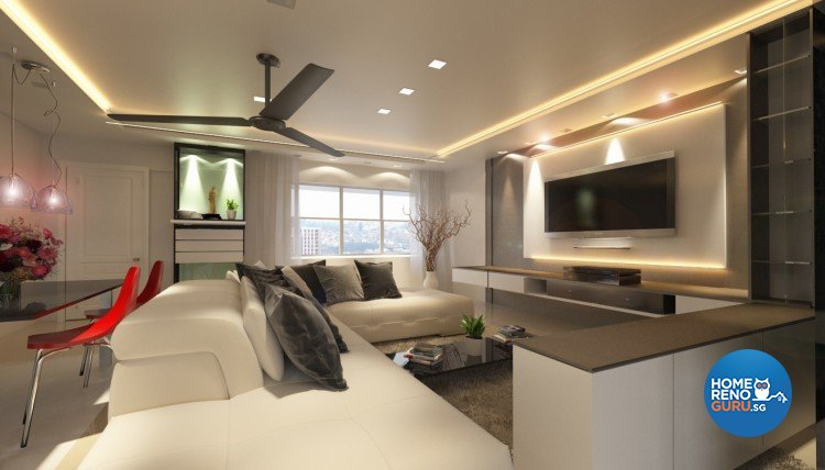 Contemporary, Minimalist, Scandinavian Design - Living Room - HDB 5 Room - Design by SBC Design & Build