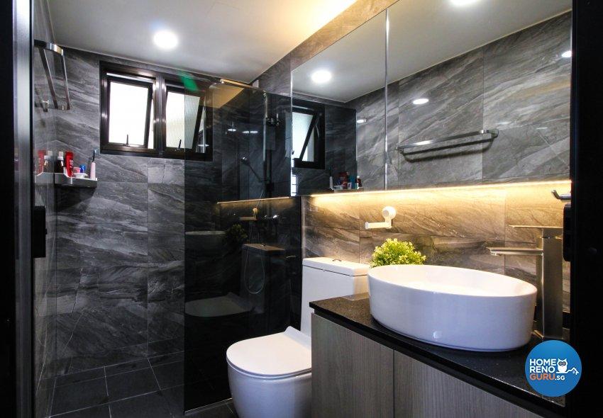 Contemporary, Minimalist, Modern Design - Bathroom - HDB 4 Room - Design by Sense & Semblance Pte Ltd