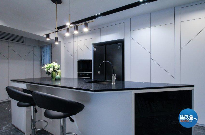 Contemporary, Minimalist, Modern Design - Dining Room - HDB 4 Room - Design by Sense & Semblance Pte Ltd