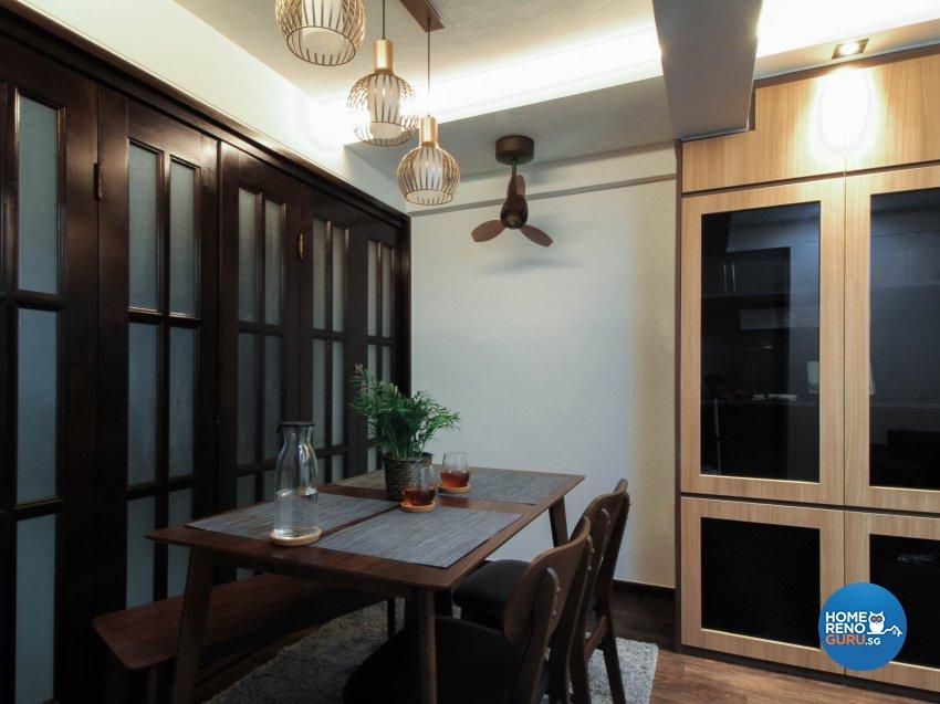 Contemporary, Industrial, Modern Design - Dining Room - HDB 3 Room - Design by Sense & Semblance Pte Ltd