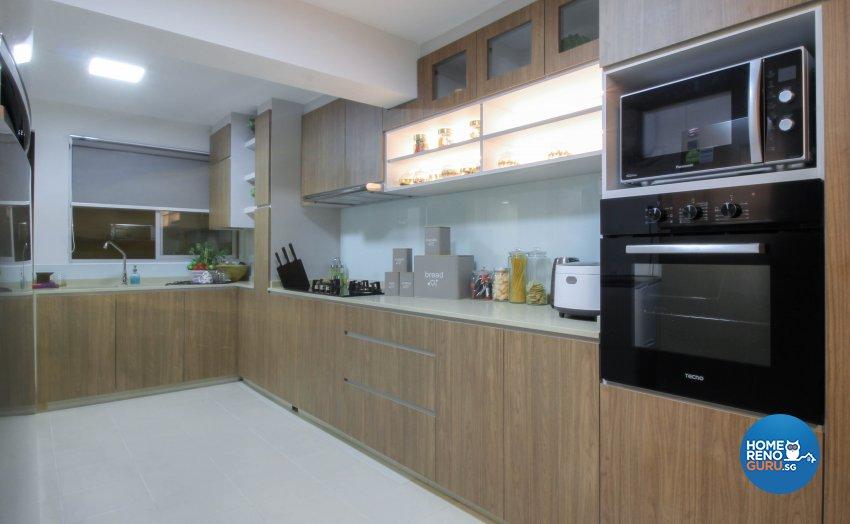 Contemporary, Industrial, Modern Design - Kitchen - HDB 3 Room - Design by Sense & Semblance Pte Ltd