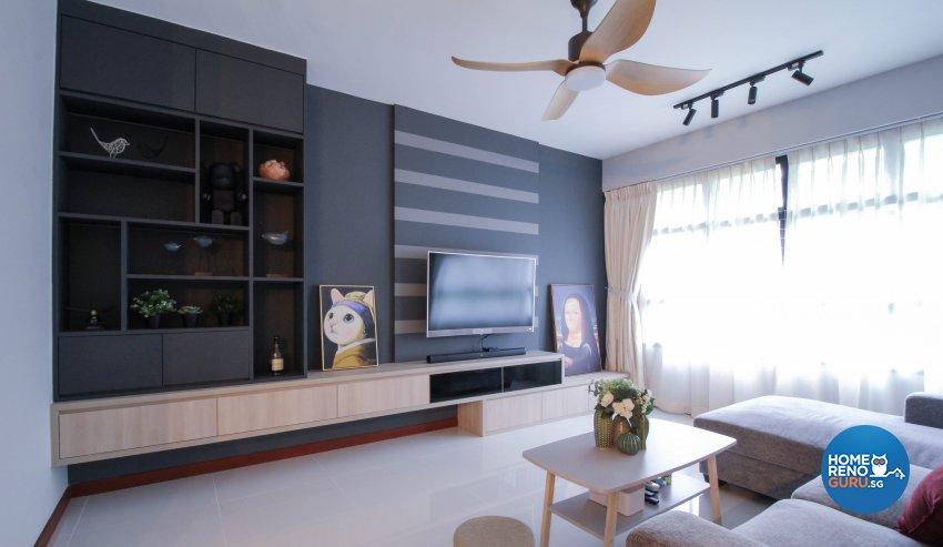 Contemporary Design - Living Room - HDB 4 Room - Design by Sense & Semblance Pte Ltd
