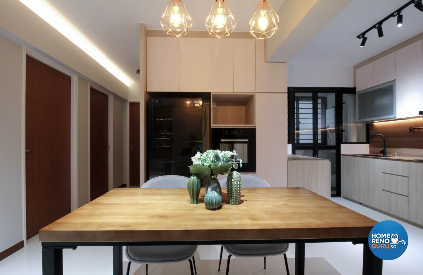Contemporary Design - Dining Room - HDB 4 Room - Design by Sense & Semblance Pte Ltd