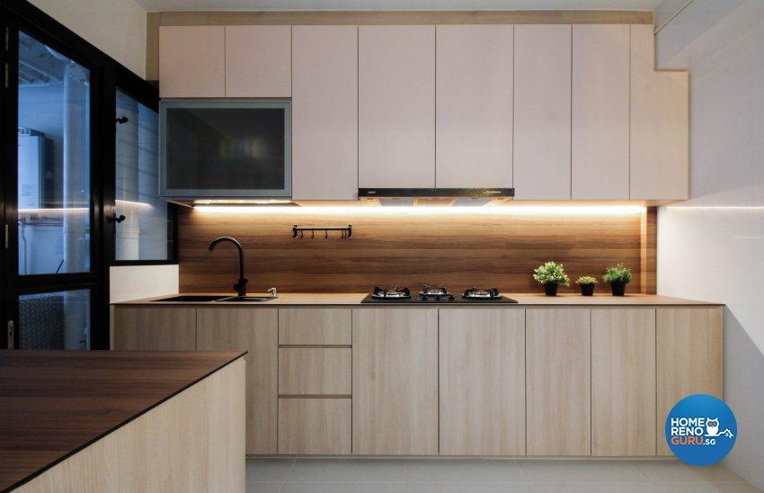 Contemporary Design - Kitchen - HDB 4 Room - Design by Sense & Semblance Pte Ltd