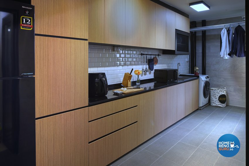 Contemporary Design - Kitchen - HDB 5 Room - Design by Six Dimension Design & Decor Pte Ltd