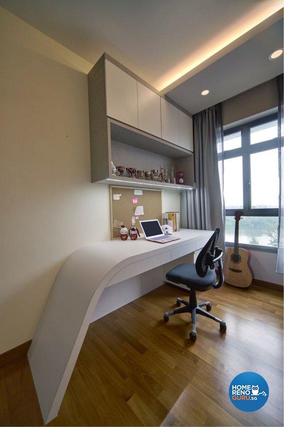 Contemporary, Modern Design - Study Room - HDB 5 Room - Design by Six Dimension Design & Decor Pte Ltd