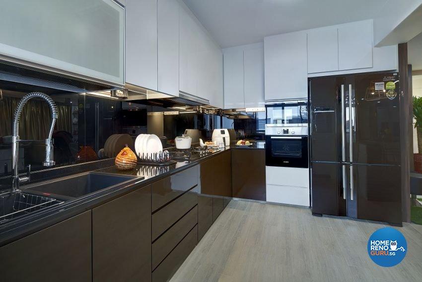 Contemporary, Modern Design - Kitchen - HDB 5 Room - Design by Six Dimension Design & Decor Pte Ltd
