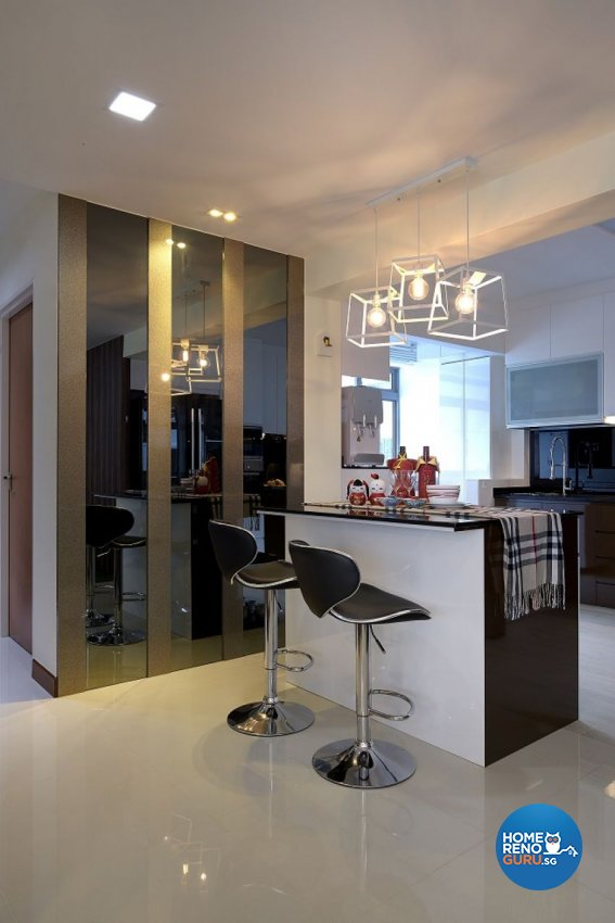 Contemporary, Modern Design - Dining Room - HDB 5 Room - Design by Six Dimension Design & Decor Pte Ltd