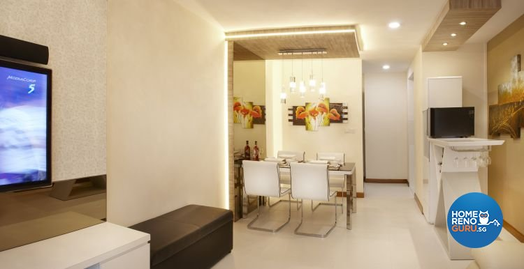 Contemporary, Modern Design - Dining Room - HDB 5 Room - Design by Six Dimension Design & Decor Pte Ltd