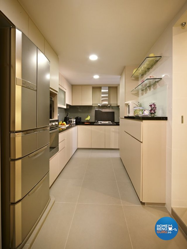 Retro, Rustic Design - Kitchen - HDB 5 Room - Design by Six Dimension Design & Decor Pte Ltd