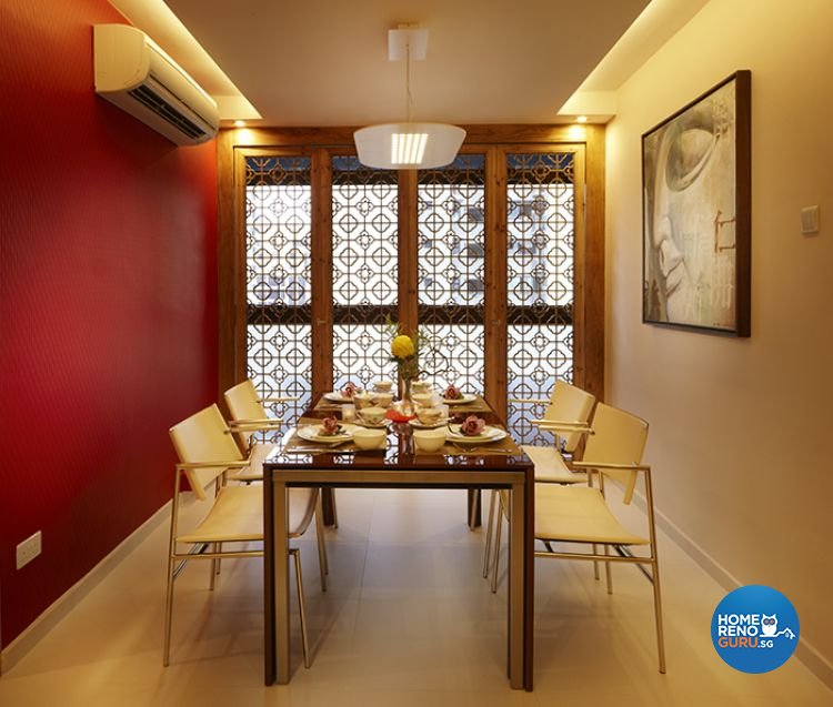 Retro, Rustic Design - Dining Room - HDB 5 Room - Design by Six Dimension Design & Decor Pte Ltd
