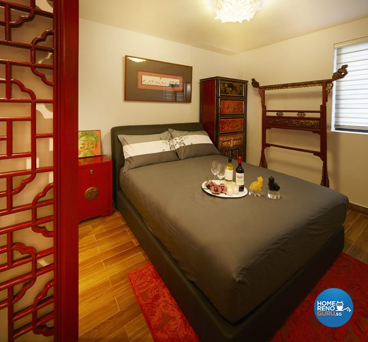 Retro, Rustic Design - Bedroom - HDB 5 Room - Design by Six Dimension Design & Decor Pte Ltd