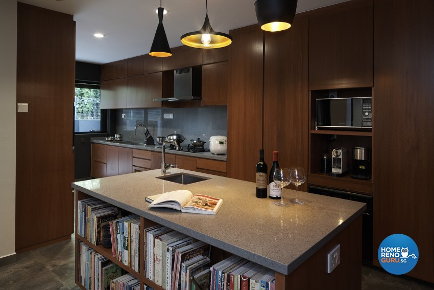Contemporary, Modern Design - Kitchen - Landed House - Design by Six Dimension Design & Decor Pte Ltd