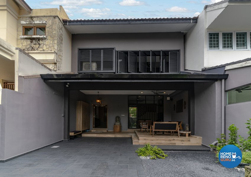 Contemporary, Modern Design - Balcony - Landed House - Design by Six Dimension Design & Decor Pte Ltd