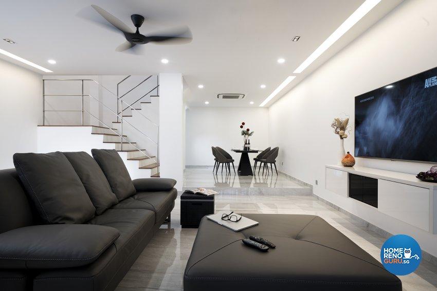 Modern Design - Living Room - Landed House - Design by Six Dimension Design & Decor Pte Ltd