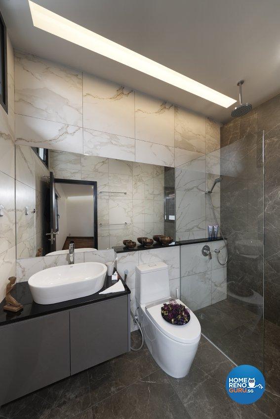 Modern Design - Bathroom - Landed House - Design by Six Dimension Design & Decor Pte Ltd