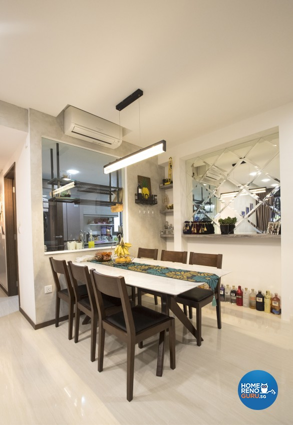 Modern Design - Dining Room - Condominium - Design by Sky Creation