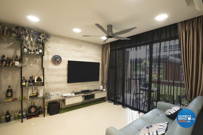 Modern Design - Living Room - Condominium - Design by Sky Creation