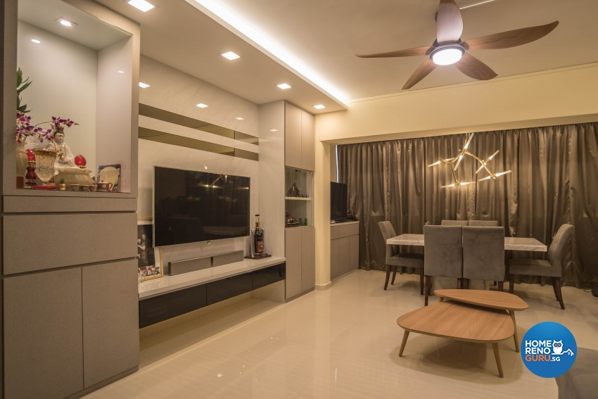 Modern Design - Living Room - HDB Executive Apartment - Design by Sky Creation