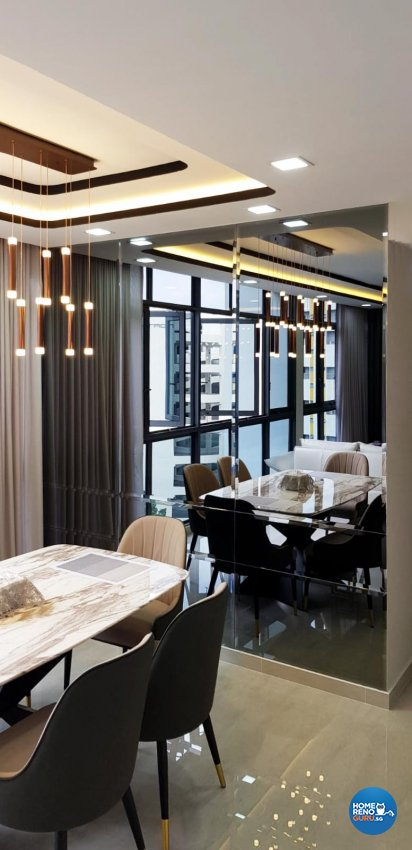 Industrial, Resort Design - Dining Room - Condominium - Design by Sky Creation