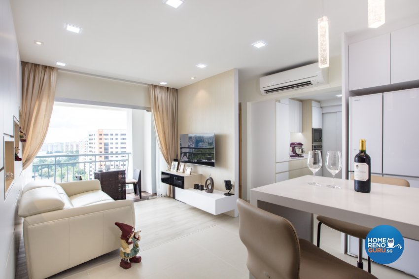 Minimalist Design - Living Room - Condominium - Design by Sky Creation