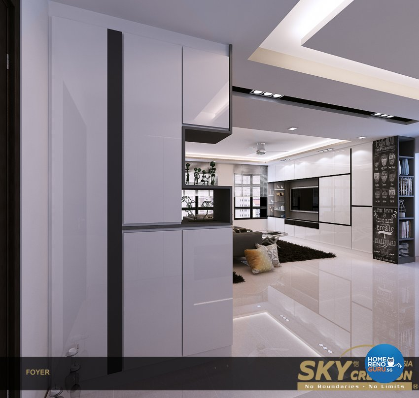 Contemporary Design - Living Room - HDB 4 Room - Design by Sky Creation