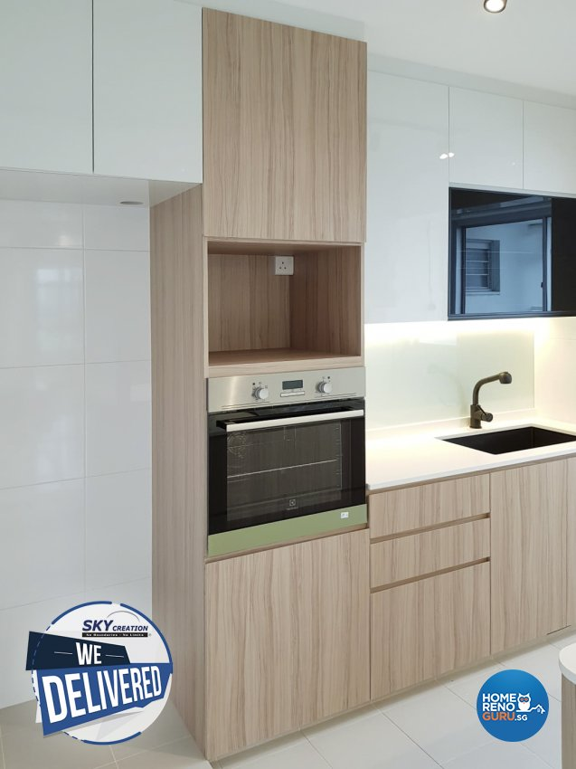 Scandinavian Design - Kitchen - HDB 4 Room - Design by Sky Creation