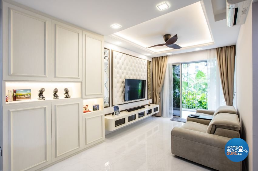 Classical, Modern Design - Living Room - Condominium - Design by Sky Creation