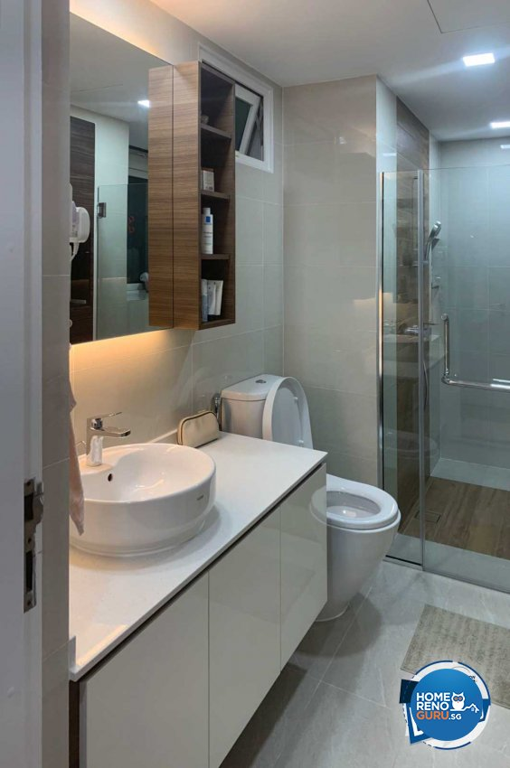 Minimalist Design - Bathroom - Condominium - Design by Sky Creation