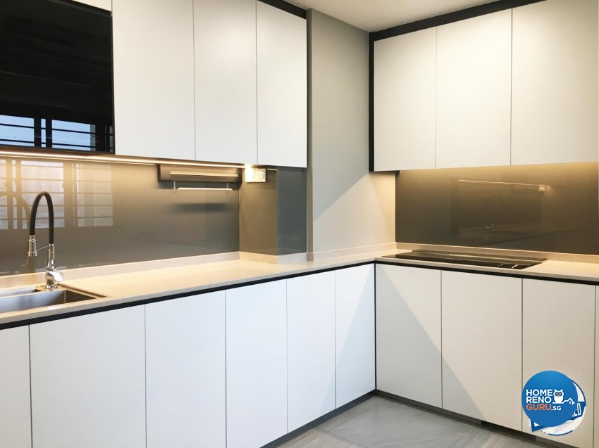 Modern Design - Kitchen - HDB Executive Apartment - Design by Sky Creation