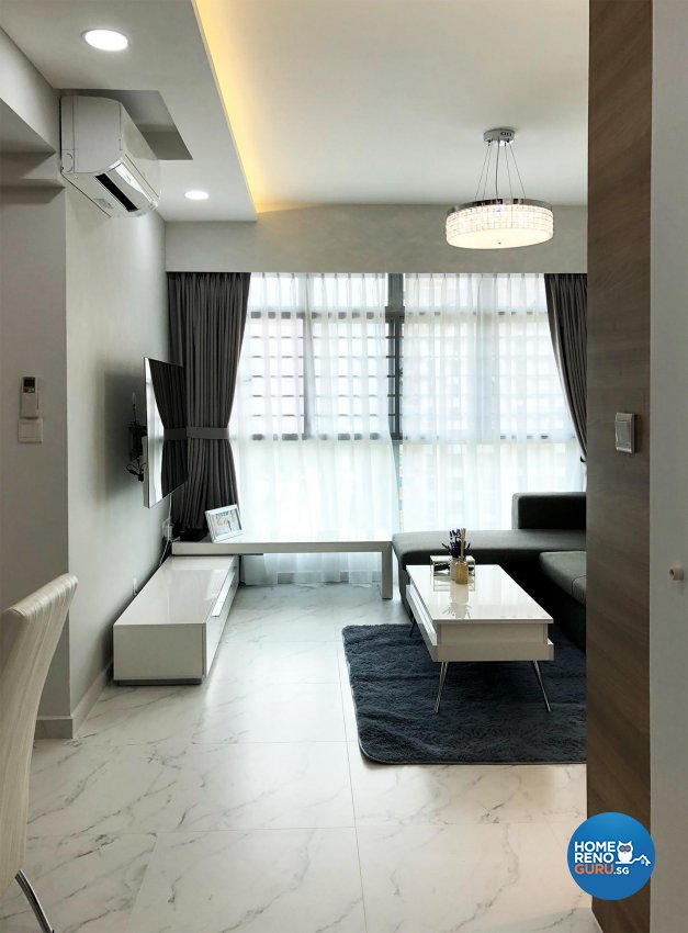 Minimalist Design - Living Room - HDB 3 Room - Design by Sky Creation