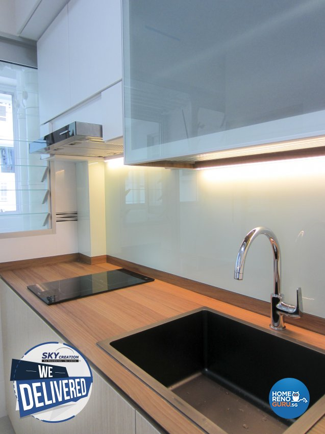 Minimalist Design - Kitchen - HDB 3 Room - Design by Sky Creation