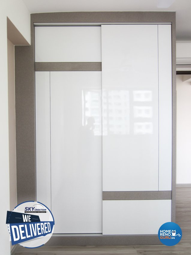 Minimalist Design - Bedroom - HDB 3 Room - Design by Sky Creation