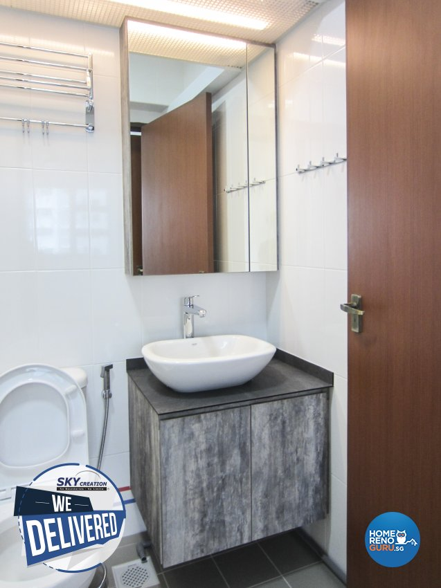 Minimalist Design - Bathroom - HDB 3 Room - Design by Sky Creation