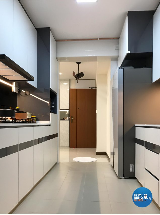 Minimalist Design - Kitchen - HDB 4 Room - Design by Sky Creation