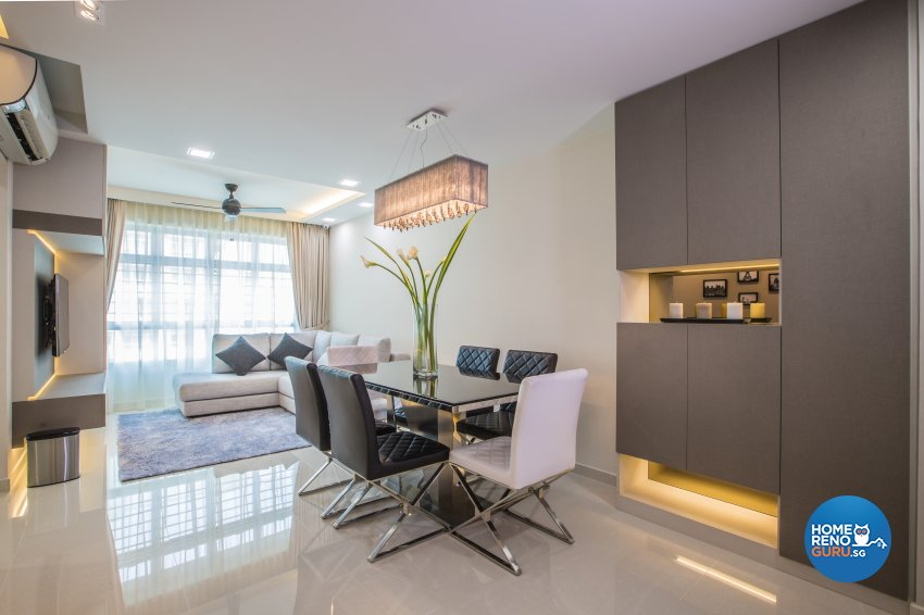 Modern Design - Dining Room - HDB 4 Room - Design by Sky Creation