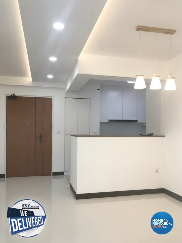 Minimalist, Scandinavian Design - Kitchen - HDB 4 Room - Design by Sky Creation