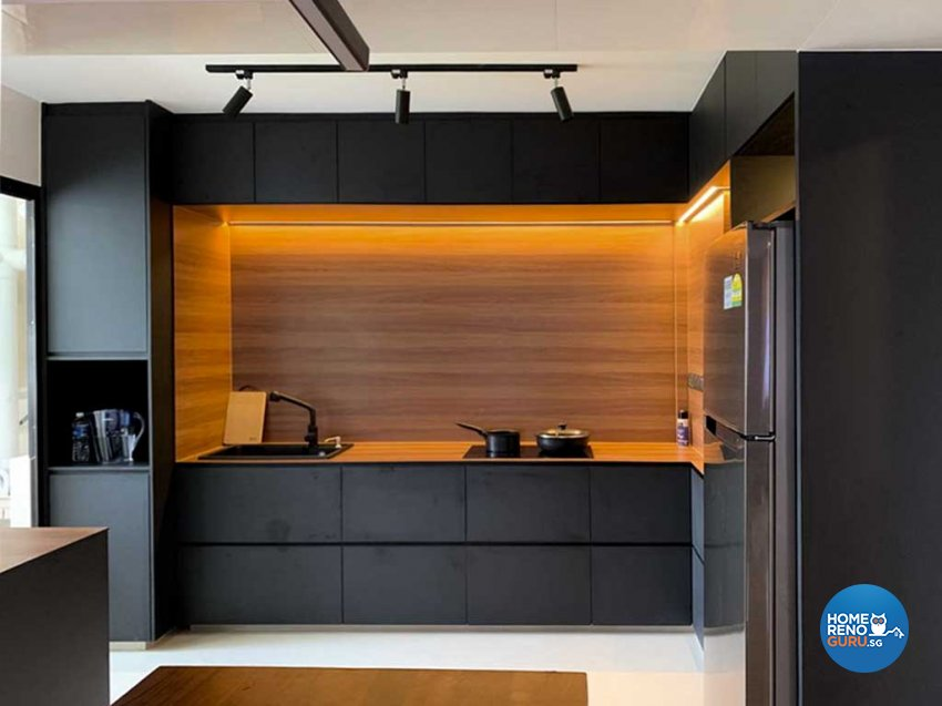 Classical, Contemporary, Industrial Design - Kitchen - HDB 4 Room - Design by Sky Creation