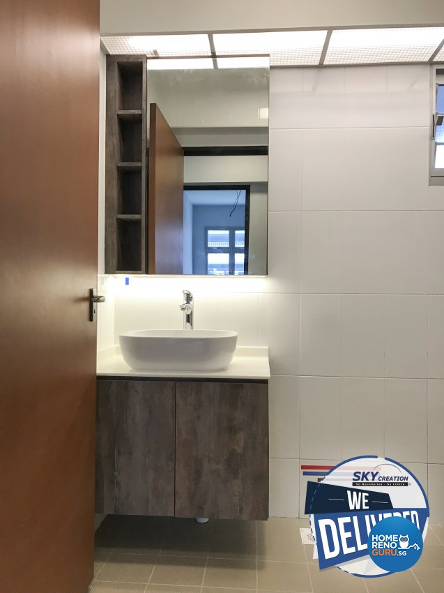 Industrial, Scandinavian Design - Bathroom - HDB 4 Room - Design by Sky Creation