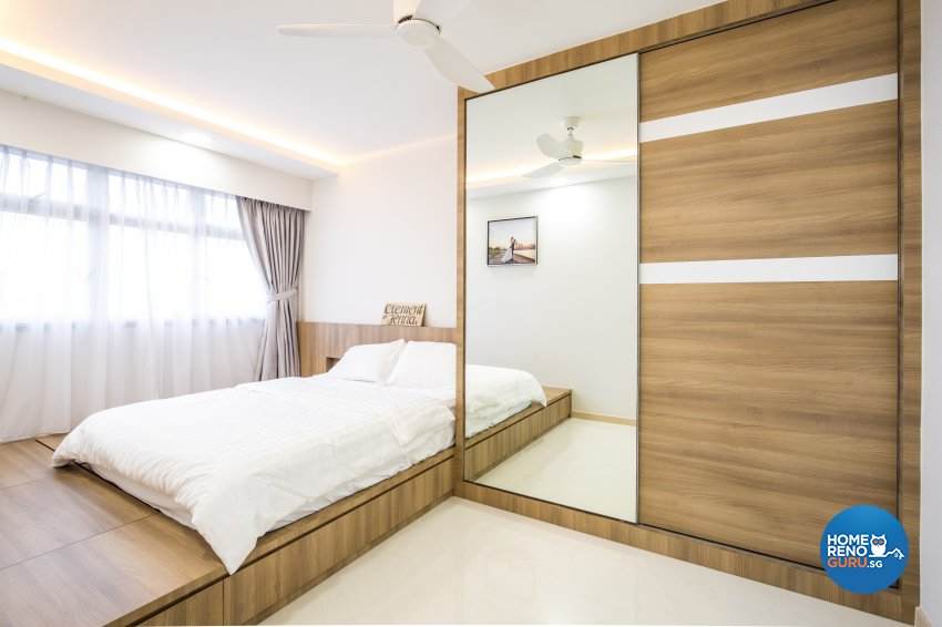 Minimalist Design - Bedroom - HDB 4 Room - Design by Sky Creation