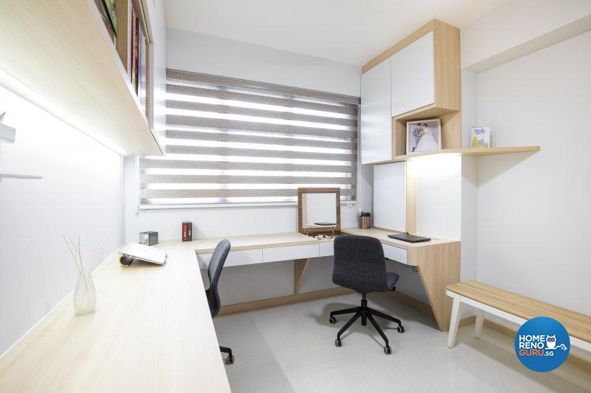 Minimalist Design - Study Room - HDB 4 Room - Design by Sky Creation