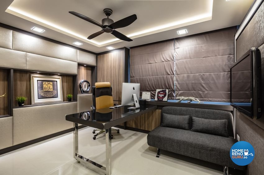 Contemporary, Modern Design - Study Room - HDB 4 Room - Design by Sky Creation