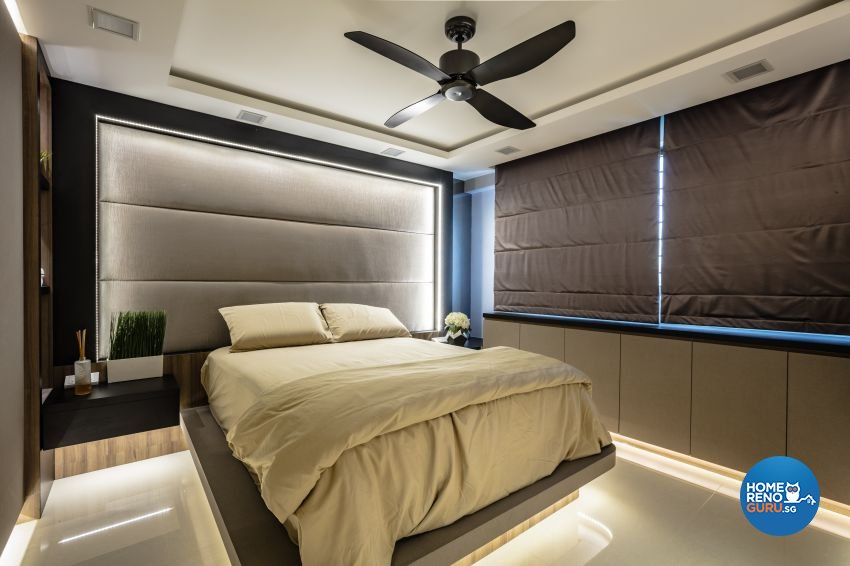 Contemporary, Modern Design - Bedroom - HDB 4 Room - Design by Sky Creation