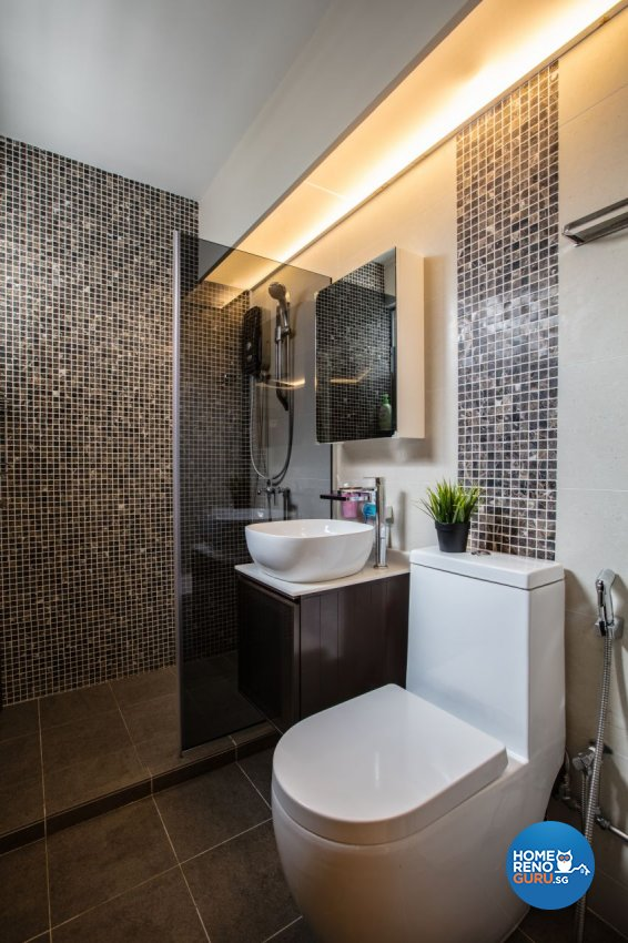 Contemporary, Modern Design - Bathroom - HDB 4 Room - Design by Sky Creation