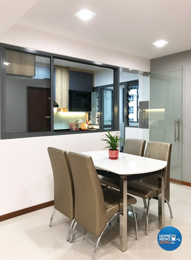 Minimalist Design - Dining Room - HDB 4 Room - Design by Sky Creation